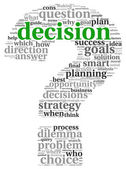 Decision concept in tag cloud — Stock Photo