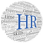 Human resources concept in tag cloud — 图库照片