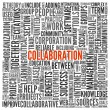 Collaboration concept in word tag cloud — Stock Photo #23989039