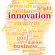 Innovation and technology concept in tag cloud — Stock Photo #23989109