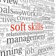 Soft skills concept on white — Foto de Stock