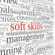 Soft skills concept on white — Stock Photo