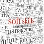 Soft skills concept on white — Stock Photo