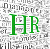 Human resources concept in tag cloud — Stockfoto