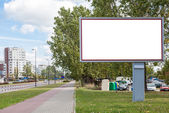 Blank billboard in city — Stock Photo