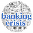 Banking crisis concept on white — Stock Photo