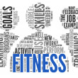 Fitness concept in word tag cloud  — Stock Photo