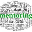 Mentoring concept in word tag cloud — Stock Photo
