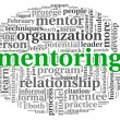 Mentoring concept in word tag cloud — Photo