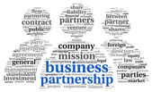Business partnership concept in tag cloud — Stock Photo