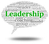 Leadership concept in word tag cloud — Foto de Stock