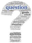 Question concept in tag cloud — Stock Photo