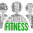 Fitness concept in word tag cloud — Stock Photo #25551641