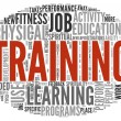 Training and education related words concept - Stock Photo