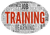 Training and education related words concept — Stock Photo