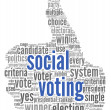 Royalty-Free Stock Photo: Social media vote concept
