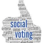 Social media vote concept — Stock Photo