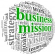 Business mission concept in word tag cloud — Stock Photo #26025709