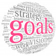 Goals concept in word tag cloud — 图库照片 #26025711
