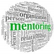 Mentoring concept in word tag cloud — Foto Stock