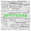 Advertising concept in word tag cloud — Stock Photo