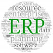 ERP in word tag cloud — Stock Photo