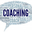 Coaching concept in sphere tag cloud — Stock Photo #26025793