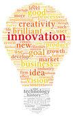 Koncepcja innowacji i technologii w chmury tagów — Zdjęcie stockowe