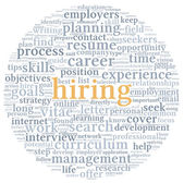 Hiring concept in word tag cloud — Stock Photo