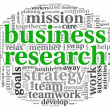 Business research concept in word tag cloud — Stock Photo #26401309