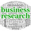 Stock Photo: Business research concept in word tag cloud