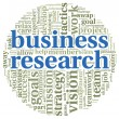 Business research concept in word tag cloud — Stock Photo #26864795
