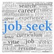 Job seek concept in word tag cloud — Stock Photo