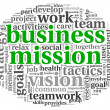 Business mission concept in word tag cloud — Stockfoto #27195413