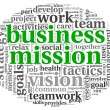 Stock Photo: Business mission concept in word tag cloud
