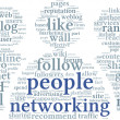 Networking conept in word tag cloud — Stock Photo #27195665