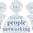 Networking conept in word tag cloud — Stock Photo