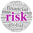 Risk in economy and finance concept on white — Stockfoto