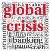 全球危机概念上白 — 图库照片
