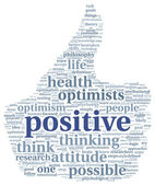 Positive concept in tag cloud — Stock Photo