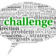 Challenge concept in word tag cloud — Stock Photo