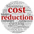 Stock Photo: Costs reduction concept