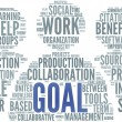 Goal concept in word tag cloud — Foto de Stock