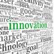 Innovation and technology concept  in tag cloud — Stock Photo