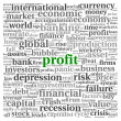 Stock Photo: Profit and risk concept on white