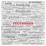 Recession concept on white — Stock Photo #28191689