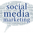 Social media marketing conept in word tag cloud — Stock Photo