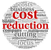 Costs reduction concept — Stock Photo