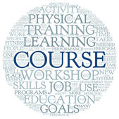 Course and training related words concept — Stock Photo