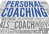 Coaching concept tag cloud — Stock Photo
